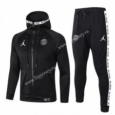 topjersey provides cheap and quality Paris SG Jordan Black Thailand Soccer Jacket Uniform With with the information of price, image, size, style and others, easy for you to buy! Football Jackets, Football Shirts, Mens Tracksuit Set, Football Fashion, Track Suit Men, Team Uniforms, Jordans For Men, Sweater Jacket, Sport Outfits