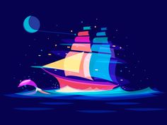 Dream Ship by Ilya Schapko #Design Popular #Dribbble #shots