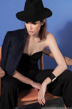 María Cher primavera verano 2015 ropa de mujer. Maria Cher, Spring Summer, Summer 2014, Beret, Casual Chic, Strapless Dress, Street Style, Outfits, Black