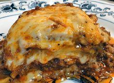 EGGPLANT LASAGNA - Use ground turkey and skim milk mozzarella to reduce the calories