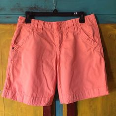 Selling this Peach Bermuda Shorts in my Poshmark closet! My username is: laurenb1128. #shopmycloset #poshmark #fashion #shopping #style #forsale #Sanctuary #Pants