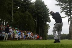 Phil Mickelson of the United States tees off on the sixth hole during ...