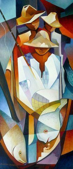 Damião martins (cuban artist) century art in 2019 искусство, пейзаж ка Cubist Paintings, Cubist Art, African Paintings, Abstract Art, African Sculptures, Sketch Painting, American Art, Pop Art, Modern Art