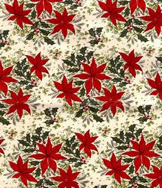 Vintage Poinsettia Wrapping Paper