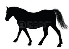 cowboy silhouette: Detailed horse silhouettes collection  Vector eps8