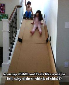 Wow! Es lo bueno de tener escaleras...