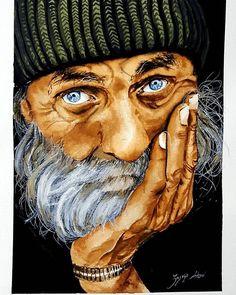 #cizimtime #old #man #watercolor #drawing #art #blueeyes #green #bread #hand #painting #artwork #suluboya #resim #yaşlı #adam #mavi #yeşil #benimatolyem #438kkfeatureeday
