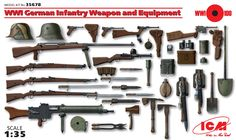 1:35 WWI German Infantry Weapon and Equipment - Figures - Accessories &…