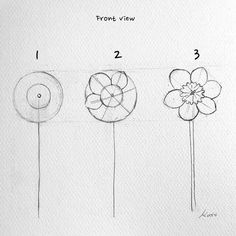 Korean Artist Uploads Step By Step Tutorials On How To Draw Beautiful Flowers – Easy drawings Easy Flower Drawings, Flower Drawing Tutorials, Flower Sketches, Easy Drawings, Art Tutorials, Easy Sketches, Simple Flower Drawing, Flower Step By Step, Step By Step Drawing