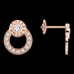 Rose gold Diamond Earrings G38P8500 - Piaget Luxury Jewelry Online