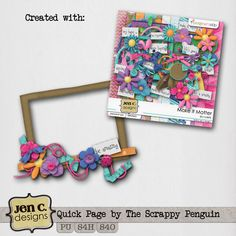 Scrapbooking TammyTags -- TT - Designer - Jen C Designs, TT - Item - Frame, TT - Style - Cluster