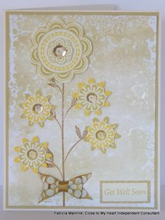 Gorgeous Card by Patricia Manhire using A Happy Hello S1502, February Stamp of the Month available from your Close to My Heart Consultant.