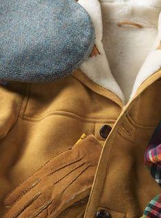 Wool Garforth Cap in Atlantic Blue Herringbone Red Leather, Leather Jacket, Flat Cap, Herringbone, Wool, Holiday, Blue, Collection, Style