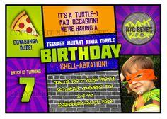 Teenage Mutant Ninja Turtles Birthday Party Invitation by ThePattyCakePress.  Ninja Turtle party ideas