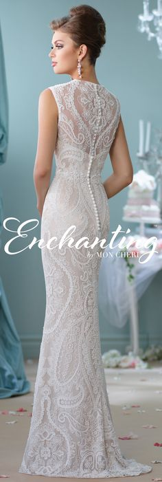 Enchanting by Mon Cheri Spring 2016 ~Style No. 116123 #laceweddingdress #coupon code nicesup123 gets 25% off at www.Provestra.com www.Skinception.com and www.leadingedgehealth.com