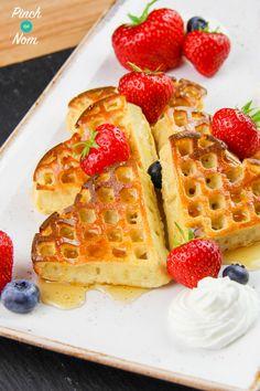 Syn Free Strawberry & Vanilla Waffles | Slimming World