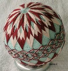 Japanese temari ball - Not sure I would (or rather, could) make one of these, but they amaze and intrigue me.