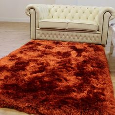 Plush Rugs Rust | on Sale Best prices Free UK PP | Land of Rugs