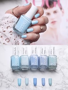 Essie Summer 2017 blue-la-la | Comparisons, Swatches | Vergleiche mit älteren Essie-Lacken www.inlovewithlife.de