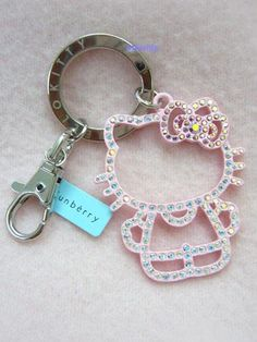 Funberry x Hello Kitty Pink Outline Diamante Keychain