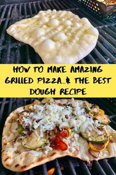 Aug 2019 - Tips for how to grill pizza and the best grilled pizza dough recipe to use.this is a perfect summertime dinner recipe and easier than you'd think! Best Grilled Pizza Dough Recipe, Grilled Pizza Recipes, Grilled Flatbread Pizza, Healthy Pizza Dough, Pizza Dough Recipe For The Grill, Mini Pizza Recipes, Chicken Recipes, Comida Pizza, Gastronomia