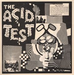 "The Grateful Dead / Ken Kesey and the Merry Pranksters Sound City Studios ""Acid Test"" Trips Festival Mandatory January 1966 Promotional Poster x Lp Cover, Cover Art, Woodstock, Beatles, Ken Kesey, Acid Art, Kunst Poster, Concert Posters, Music Posters"