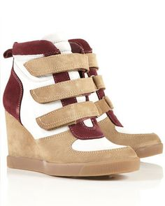 FLARE pick: Topshop leather sneaker wedges, $126