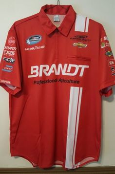 #31Justin Allgaier Brandt Agriculture Nascar Nationwide Pit Crew Shirt New Chevy