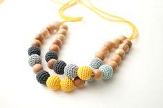Double statement nursing necklace Breastfeeding  bib by MagazinIL, $55.00
