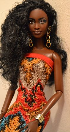 Dania- Formally So inStyle Baby Phat Chandra 2013 Repaint African American Beauty, African American Dolls, Beautiful Barbie Dolls, Pretty Dolls, Diva Dolls, Dolls Dolls, African Dolls, Pelo Natural, Black Barbie