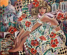 "Elena KHMELEVA~LISTED RUSSIAN PAINTER~ORIGINAL & SIGNED ARTWORK~""ESMERALDA"" | eBay"