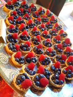 Check out the delicious tarts we made for a #wedding desert table at UC Berkeley Faculty Club. #deserts #weddingtables #weddingrecetpions #sweets #treats
