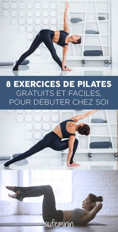 Les explications en détail… What pilates exercises can I do at home? The explanations in detail for an easy and free pilates course at home. Learn the basics of Pilates yourself Pilates Workout Routine, Pilates Training, Workout Videos, Cardio Hiit, Yoga Videos, Yoga Fitness, Sport Fitness, Yoga Gym, Fitness Tracker