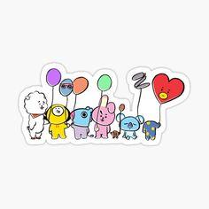 Anime Stickers, Kawaii Stickers, Cute Stickers, Bts Wallpaper Desktop, Cartoon Wallpaper, Kawaii Drawings, Bts Hyyh, Minimalist Drawing, Kpop Posters