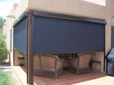 Enjoy Your View While Blocking The Sun And Wind With Motorized Outdoor Solar Roller Shades From