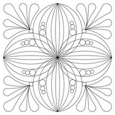 Winding Ways 4 Blk 12 Quilting Stencils, Free Stencils, Longarm Quilting, Paper Quilling Patterns, Quilling Designs, Mandala Drawing, Mandala Art, Mandala Coloring, Colouring Pages