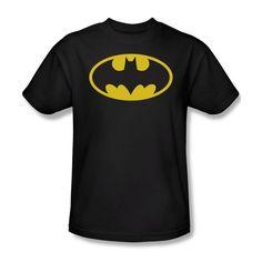 Batman Classic Shield Symbol Logo DC Comics JLA Youth Ladies Jr Men T-shirt top #Trevco #GraphicTee