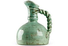 Large Braided Pitcher, Blue