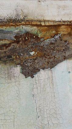 """Detail aus """"rostig am rhein"""" 100 x 50 cm Art Sur Toile, Nature Artwork, Art Nature, Collage Art Mixed Media, Encaustic Painting, Art Moderne, Art Techniques, Pottery Art, Ceramic Art"""
