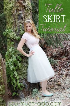 Tulle skirt tutorial - perfect fullness and easy to make!