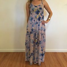 Watercolor Floral Chiffon Maxi Dress Watercolor Floral Chiffon Maxi Dress. Brand new. Never worn. No flaws. Available in S-M-L. Model is wearing a small for reference. Bundle for 10% off. No Paypal. No trades. No offers will be considered unless you use the make me an offer feature.     Please follow  Instagram: BossyJoc3y  Blog: www.bossyjocey.com Dresses Maxi