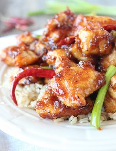Delicious General Tso's Chicken that's gluten-free! My boys will love this!
