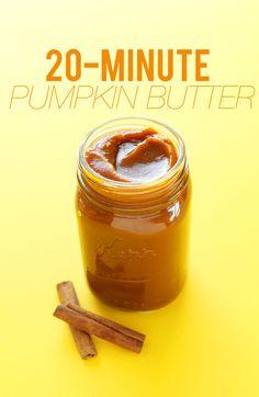 EASY 20-MINUTE Pumpkin Butter! Perfect for adding to fall treats #recipe #pumkin #fall #pumpkinspice #dessert #minimalistbaker