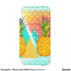 Pineapples - iPhone 5/5S Wallet Case