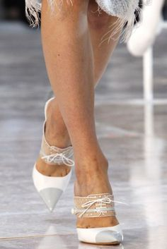 Laced Cap-Toe and Leaf-Shaped Shoes