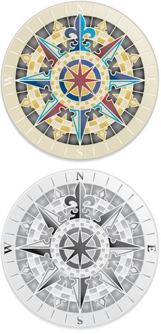 Wind roses - nautical compass vector grunge collection Wall Mural ✓ Easy Installation ✓ 365 Days to Return ✓ Browse other patterns from this collection! Compass Art, Compass Vector, Compass Logo, Compass Tattoo, Nautical Star, Nautical Compass, Ceiling Painting, Stencil Painting, Rose Stencil