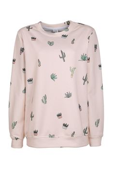 Sweatshirt Cactus Attack Yeah Bunny by YeahBunny on Etsy