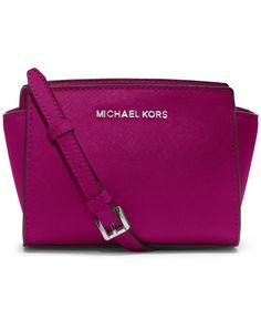 MICHAEL Michael Kors Selma Mini Messenger Bag - MICHAEL Michael Kors - Handbags & Accessories - Macy's