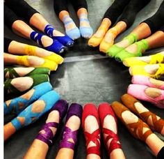 On pointe & color crazy....i only have pink and black....i think i need all of these!!!