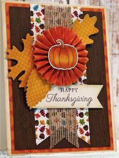 Thanksgiving card using supplies from Taylored Expressions.